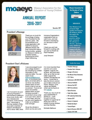 New Annual report cover